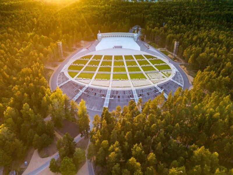 Riga, Latvia. Mezapark Open-air Stage. Song and dance festival. royalty free stock photos