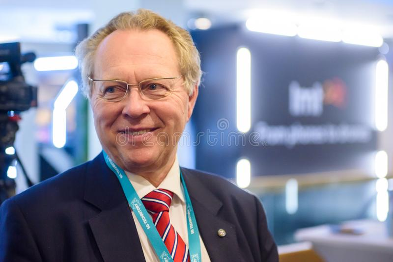 Juris Binde, president and board chairman at Latvian Mobile Telephone LMT stock photos