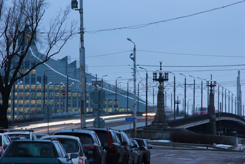 Riga, Latvia - a view of Stone bridge royalty free stock images