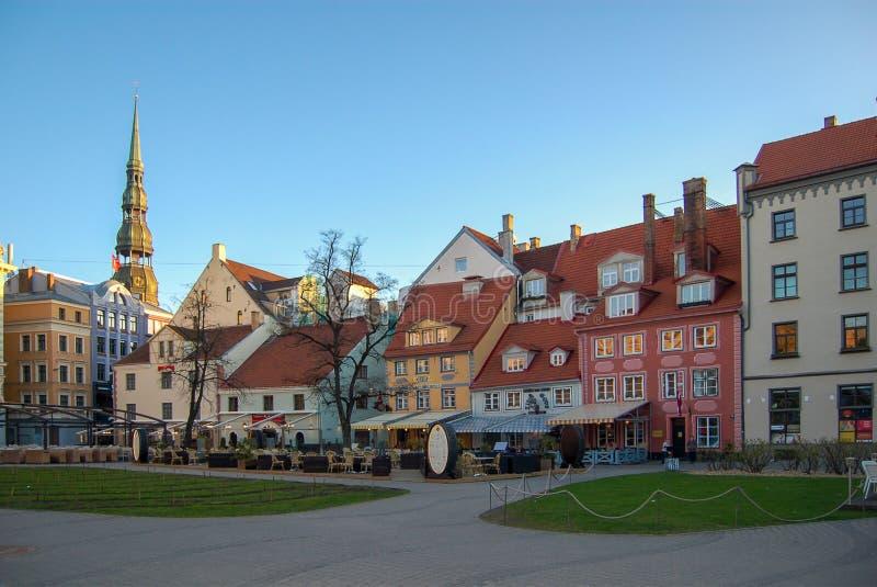 Riga, Letland 01 kunnen 2017 Vierkant in de historische oude stad royalty-vrije stock afbeeldingen