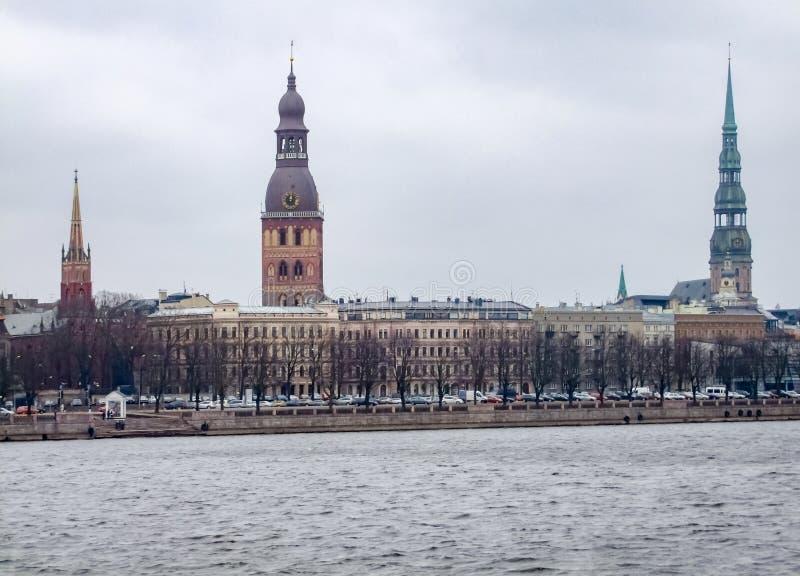 Riga in Lettland stockbilder