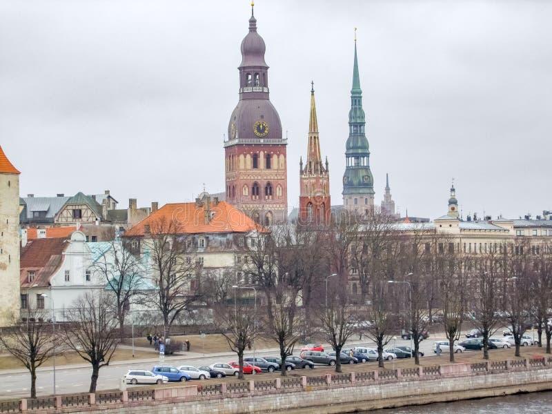 Riga in Lettland lizenzfreies stockbild