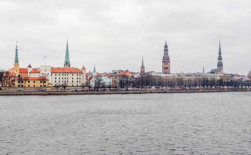 Riga in Lettland lizenzfreie stockfotos