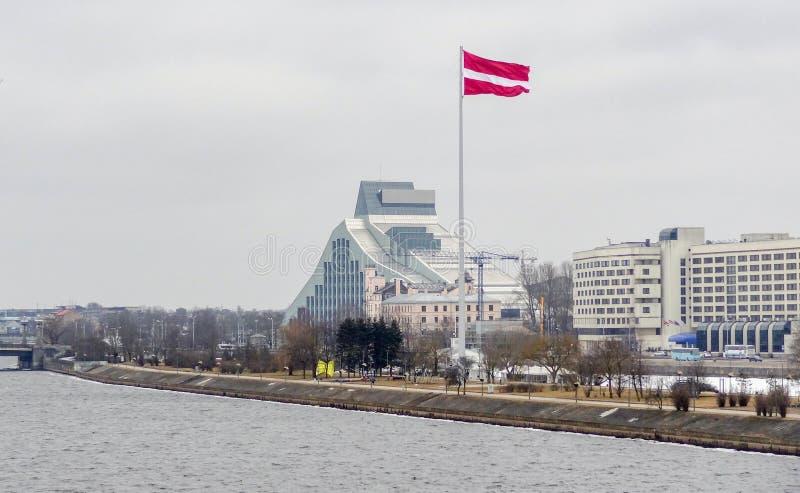 Riga in Lettland stockfotos