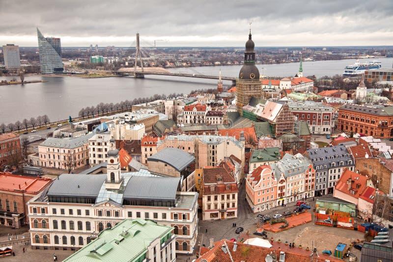 Riga. Lettland arkivbilder