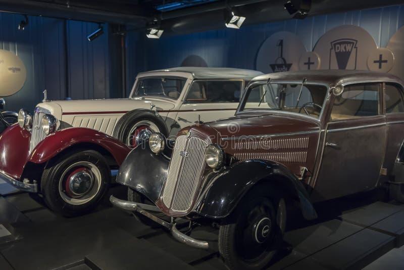 RIGA, LETTLAND 18. Februar 2019: 1939 DKW im Riga-Bewegungsmuseum stockfotografie