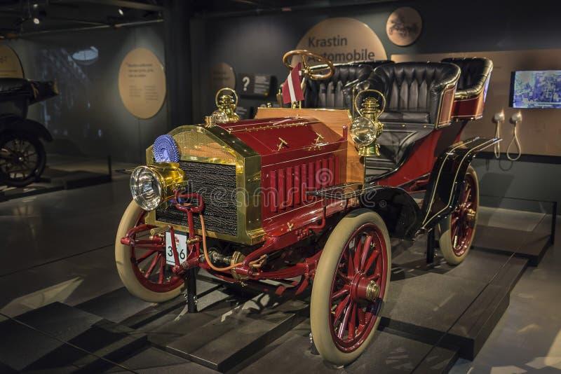 RIGA, LETTLAND 18. Februar 2019: Krastin 1903 im Riga-Bewegungsmuseum lizenzfreie stockbilder