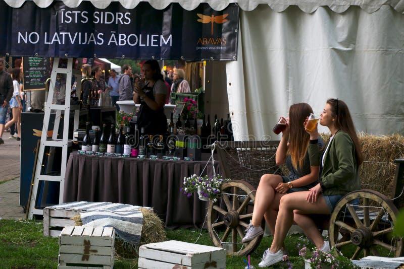 Riga Lettland - Maj 24 2019 arkivfoton