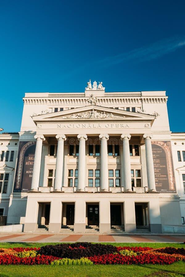 Riga, Lettonie Bâtiment d'opéra national letton Opéra national photographie stock