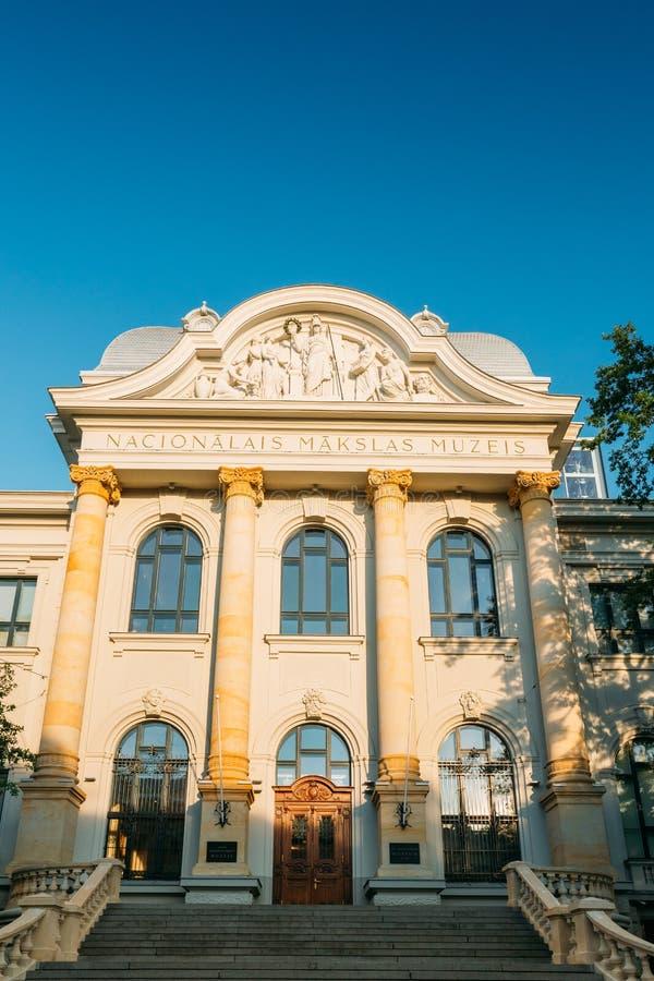 Riga, Lettonie Entrée de Musée National letton d'Art In Kris photos libres de droits