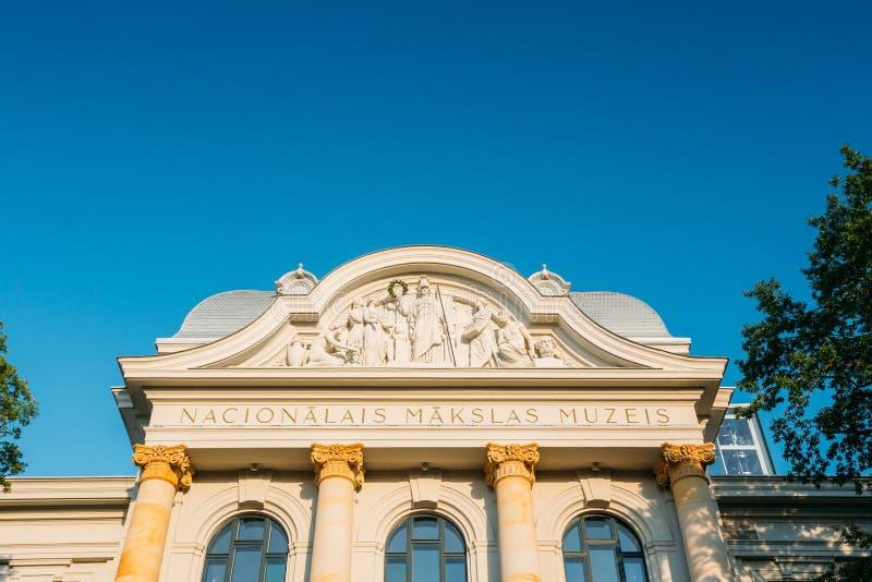 Riga, Lettonie Façade du bâtiment du Musée National letton d'A photos libres de droits