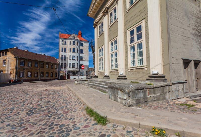 RIGA, LETTONIE - 6 MAI 2017 : Vue sur le coeur de Riga de Jesus Evangelic Lutheran Church qui est situé dans la ville photographie stock libre de droits