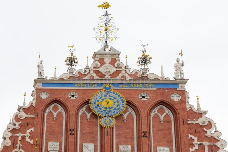 Riga - Meeëterhuis royalty-vrije stock afbeelding