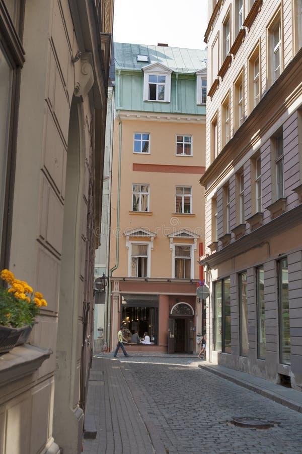 Riga narrow street royalty free stock photos