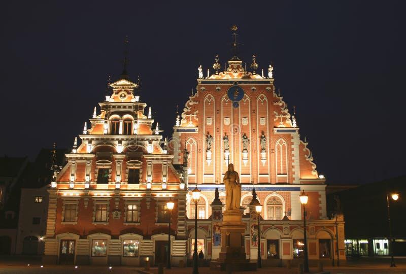 Riga by Night royalty free stock photography