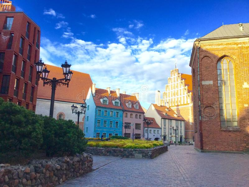 Riga. Old town. Evening time. Summer 2015 stock photography