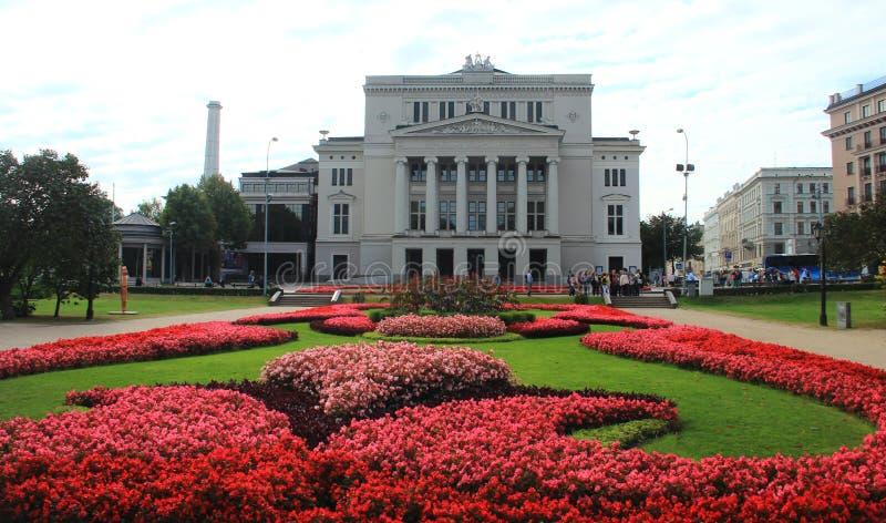 Riga, opéra national letton images libres de droits