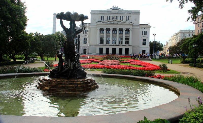 Riga, opéra national letton image libre de droits