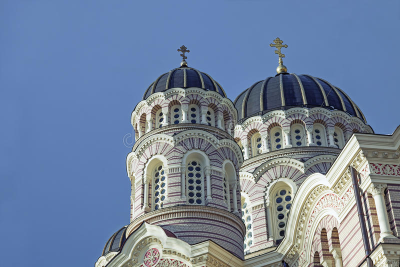 Riga Orthodox Cathedral Royalty Free Stock Images