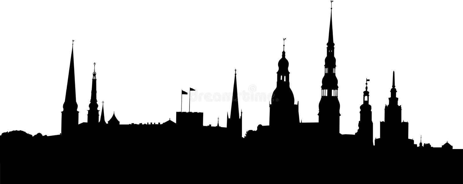 Download Riga panorama stock vector. Illustration of latvia, building - 13306920