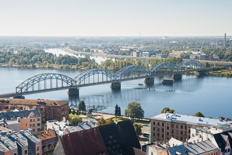 Riga, pont de chemin de fer photos libres de droits