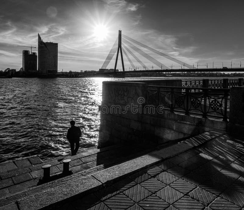 Riga preto e branco fotos de stock