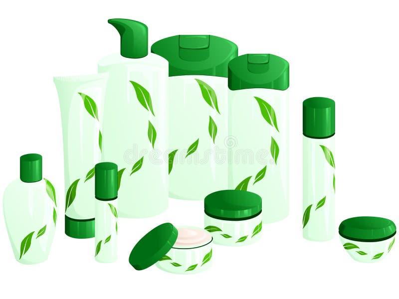 riga prodotti del foglio di verde di disegno di bellezza illustrazione vettoriale