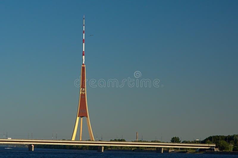 Riga radio and TV tower, LAtvia royalty free stock photo