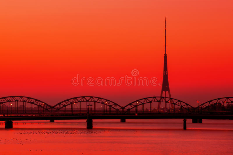 Riga Radio and TV Tower royalty free stock image