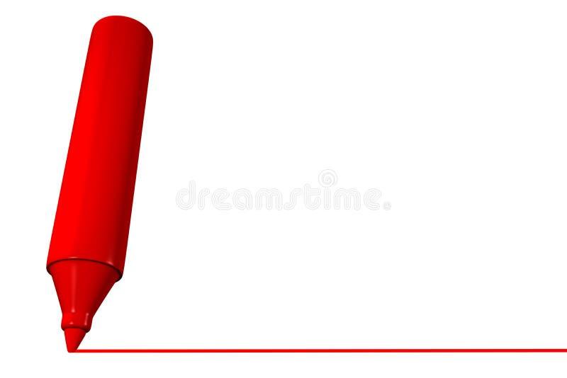 Riga rossa dell'illustrazione dell'indicatore illustrazione di stock