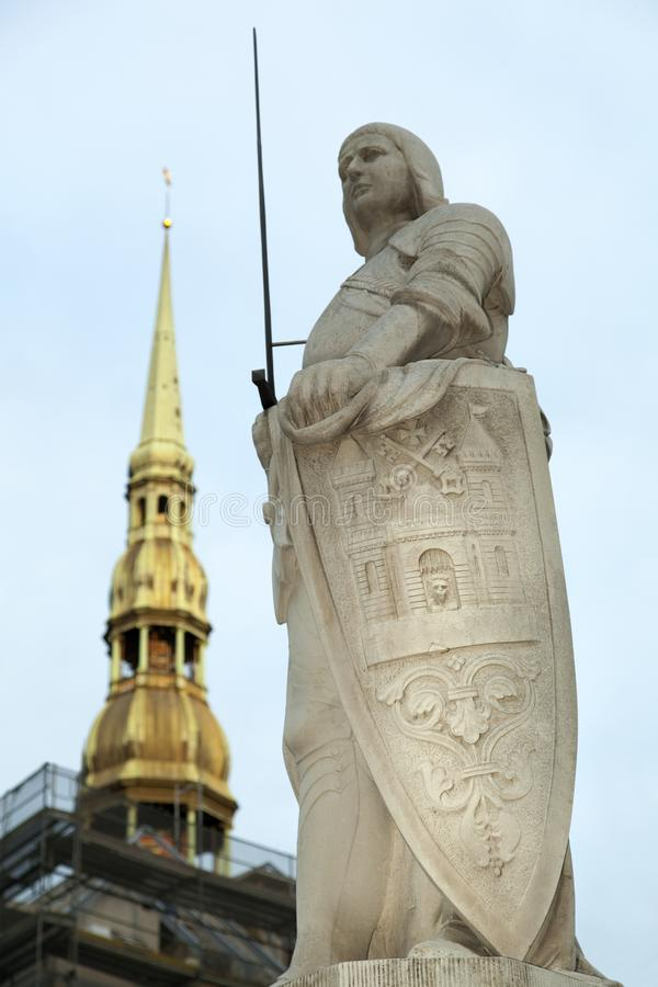 Riga`s Roland Statue royalty free stock images