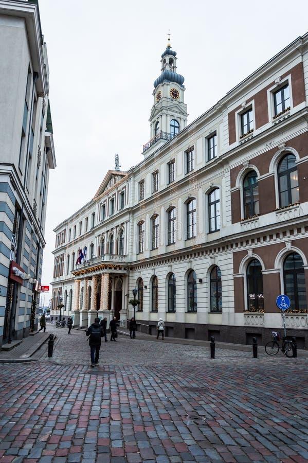 Riga-Stadt Hall Latvia lizenzfreie stockfotos