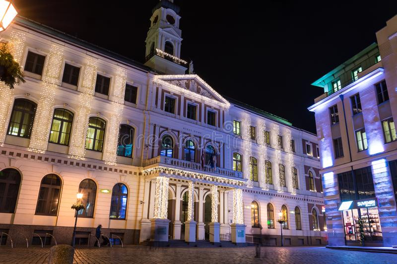 Riga-Stadt Hall Latvia lizenzfreies stockfoto