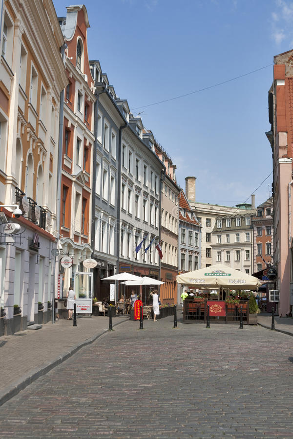 Riga street royalty free stock images