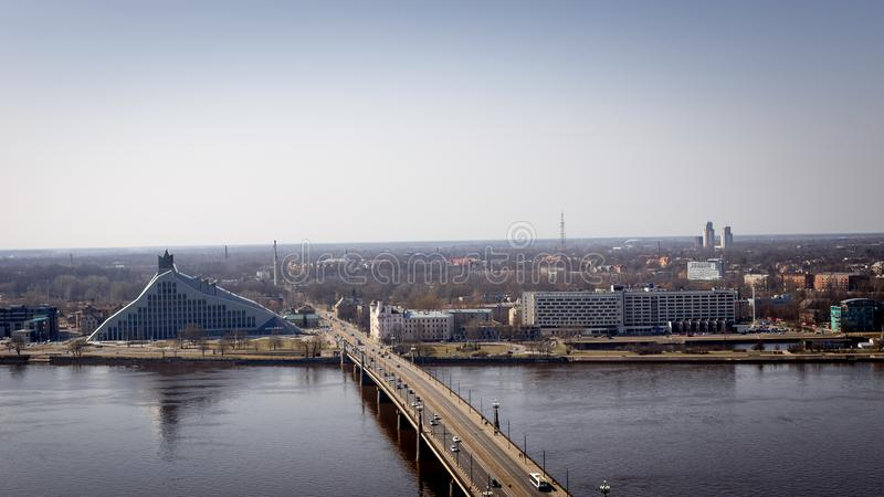 Riga-top view in spring royalty free stock images