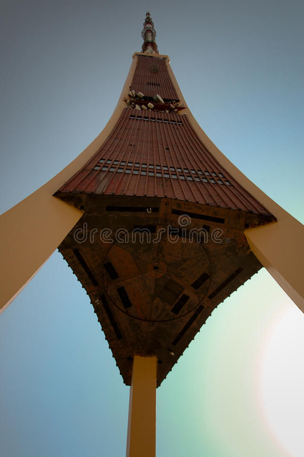 Riga TV Tower stock photo
