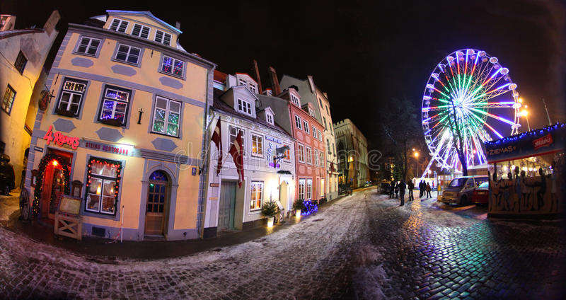 Riga vieja, Latvia fotografía de archivo