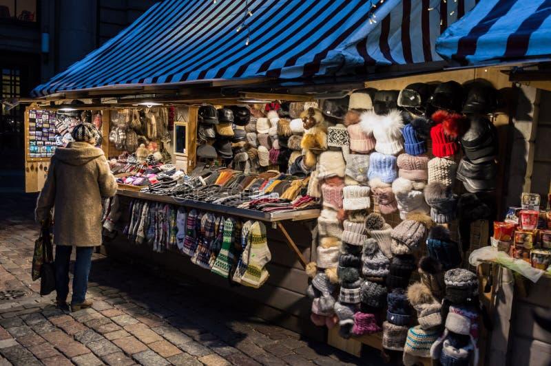 Riga-Weihnachtsmarkt 2018 lizenzfreie stockfotografie