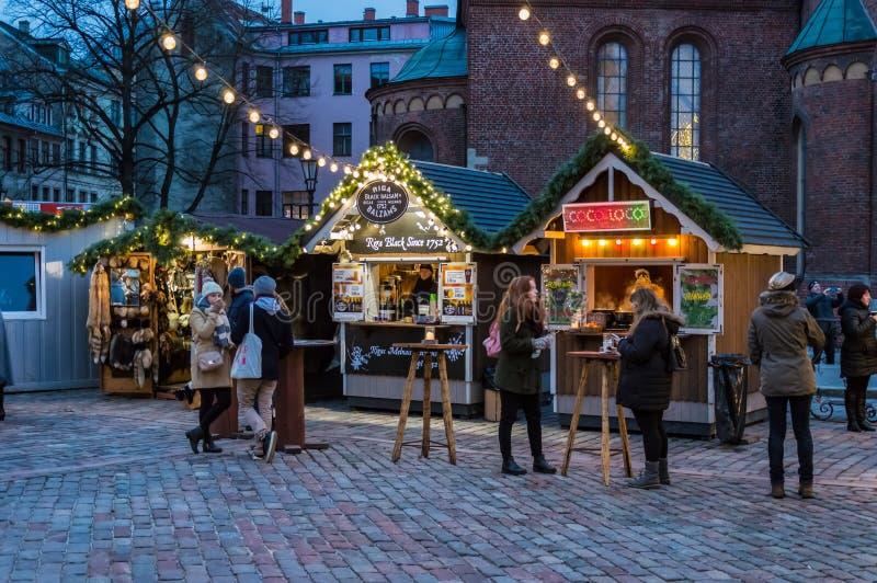 Riga-Weihnachtsmarkt 2018 lizenzfreies stockbild