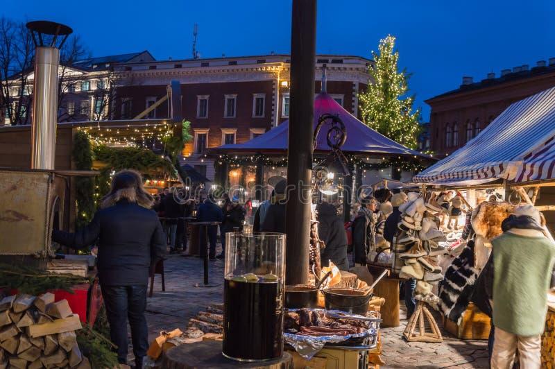 Riga-Weihnachtsmarkt 2018 lizenzfreie stockbilder
