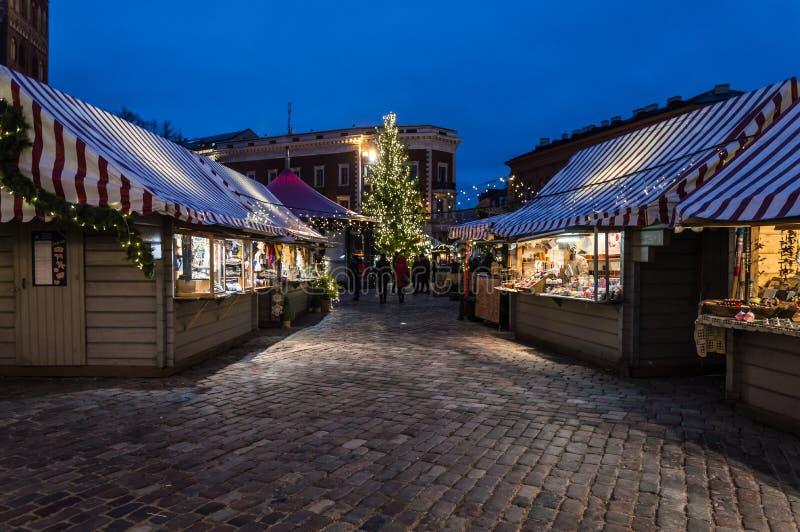 Riga-Weihnachtsmarkt 2018 lizenzfreie stockfotos