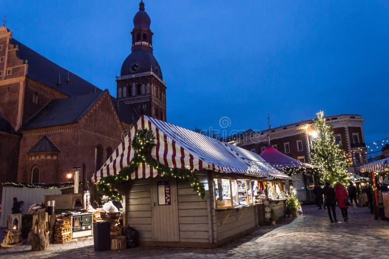 Riga-Weihnachtsmarkt 2018 stockfoto
