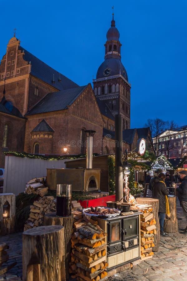 Riga-Weihnachtsmarkt 2018 stockbild