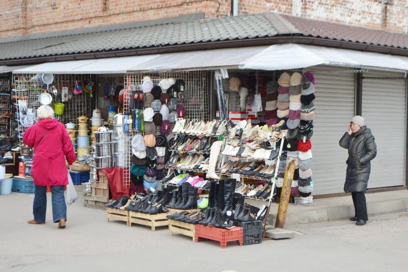 Riga-zentraler Markt stockbild