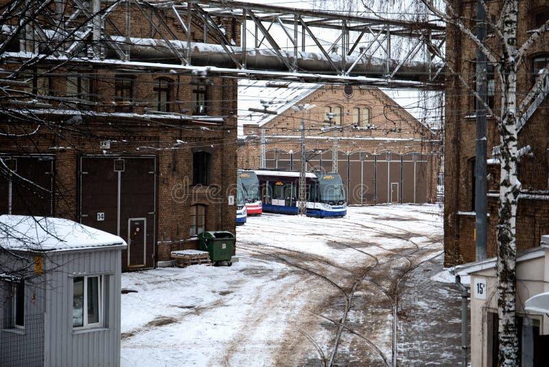Rigas Satiksme Αγγλικά: Η κυκλοφορία της Ρήγας, είναι μια municipally-κύρια αρχή δημόσιου μέσου μεταφοράς και χώρων στάθμευσης πο στοκ φωτογραφία