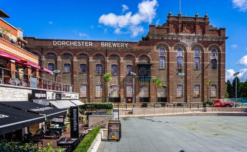Rigenerazione del centro edificato di Eldridge Pope Brewery Site Dorchester fotografie stock libere da diritti