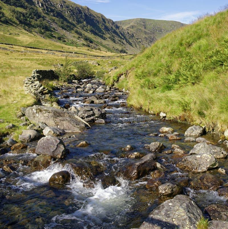 Riggindale Beck & Riggindale Crag imagens de stock royalty free