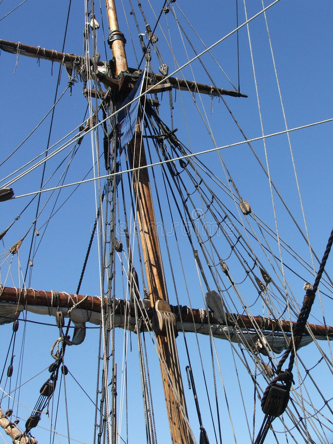 rigging royaltyfria bilder