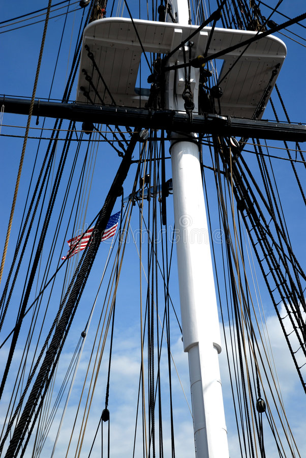 Download Rigging with Flag stock image. Image of flagged, emblem - 891231