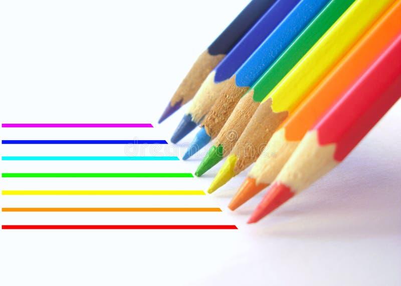 Righe 2 della matita fotografia stock